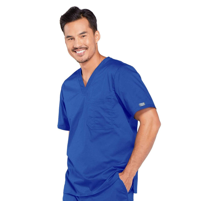Cherokee Scrubs Top Cherokee Core Stretch 4743 Scrubs Top Men's V-Neck Royal