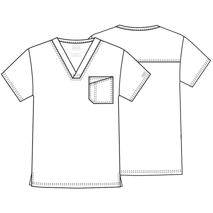 Cherokee Scrubs Top Cherokee Core Stretch 4743 Scrubs Top Men's V-Neck White