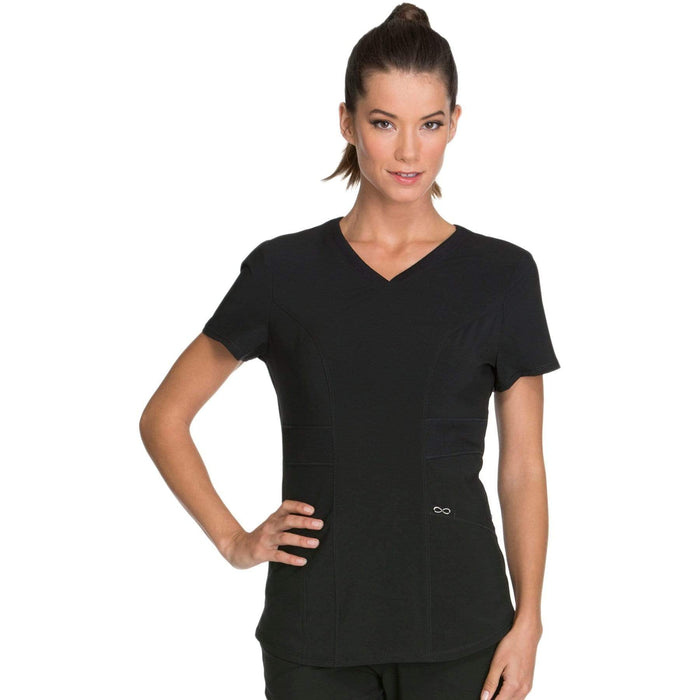 Cherokee Scrubs Top 2XL Cherokee Infinity CK623A Scrubs Top Women's V-Neck Black