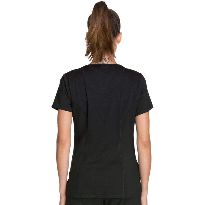 Cherokee Scrubs Top Cherokee Infinity CK623A Scrubs Top Women's V-Neck Black