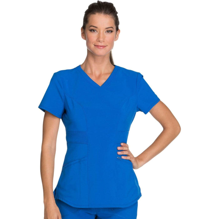 Cherokee Scrubs Top 2XL Cherokee Infinity CK623A Scrubs Top Women's V-Neck Royal