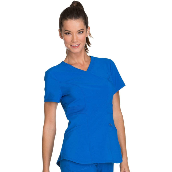 Cherokee Scrubs Top Cherokee Infinity CK623A Scrubs Top Women's V-Neck Royal