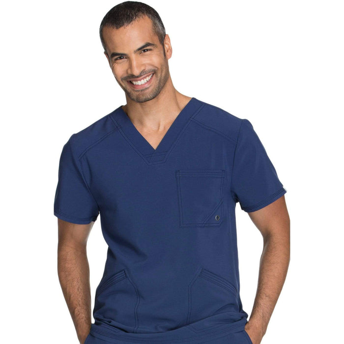 Cherokee Scrubs Top 2XL Cherokee Infinity CK900A Scrubs Top Men's V-Neck Navy