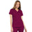 Cherokee Scrubs Top 2XL Cherokee Luxe 21701 Scrubs Top Women's Empire Waist Mock Wrap Wine