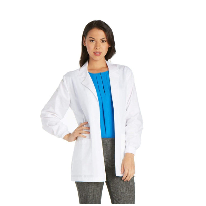 "Cherokee Lab Coat Cherokee Professional 1302 Lab Coat Women's 30"" White"