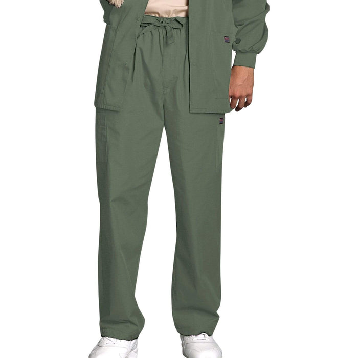 Cherokee Scrubs Pants 2XL / Regular Length Cherokee Workwear 4000 Scrubs Pants Men's Drawstring Cargo Olive
