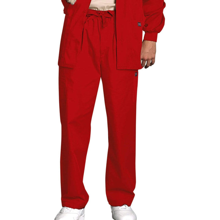 Cherokee Scrubs Pants 2XL / Regular Length Cherokee Workwear 4000 Scrubs Pants Men's Drawstring Cargo Red