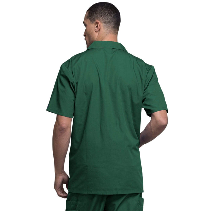 Cherokee Scrubs Jacket Cherokee Workwear 4300 Scrubs Jacket Men's Zip Front Hunter Green