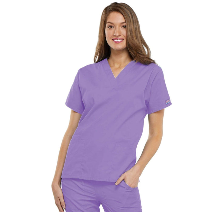Cherokee Scrubs Top 2XL Cherokee Workwear 4700 Scrubs Top Women's V-Neck Orchid