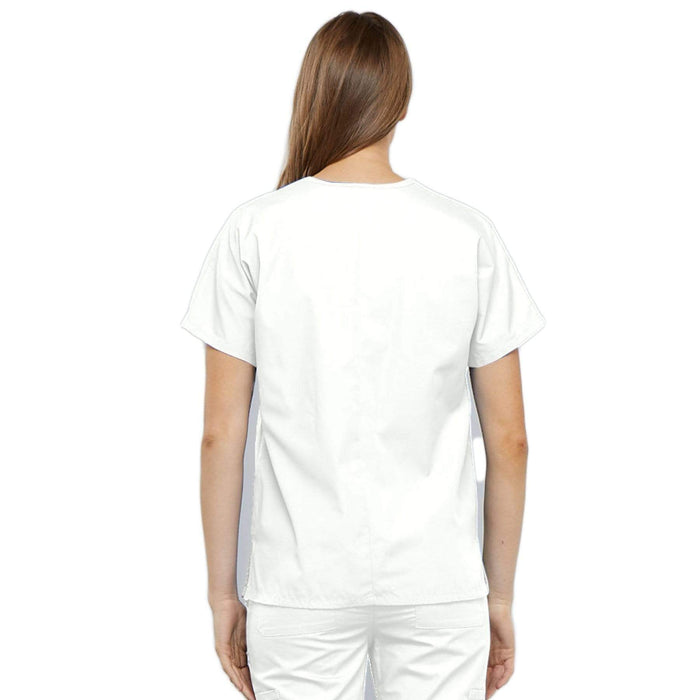 Cherokee Scrubs Top Cherokee Workwear 4700 Scrubs Top Women's V-Neck White