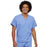 Cherokee Scrubs Top 2XL Cherokee Workwear 4777 Scrubs Top Unisex V-Neck Tunic Ceil Blue