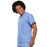 Cherokee Scrubs Top Cherokee Workwear 4777 Scrubs Top Unisex V-Neck Tunic Ceil Blue