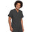 Cherokee Scrubs Top Cherokee Workwear 4777 Scrubs Top Unisex V-Neck Tunic. Pewter