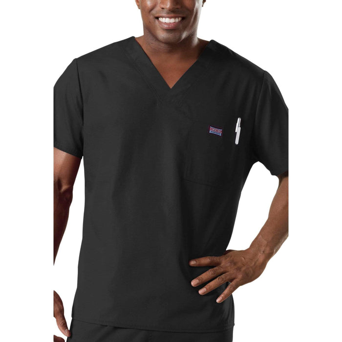 Cherokee Scrubs Top 2XL Cherokee Workwear 4789 Scrubs Top Men's V-Neck Black