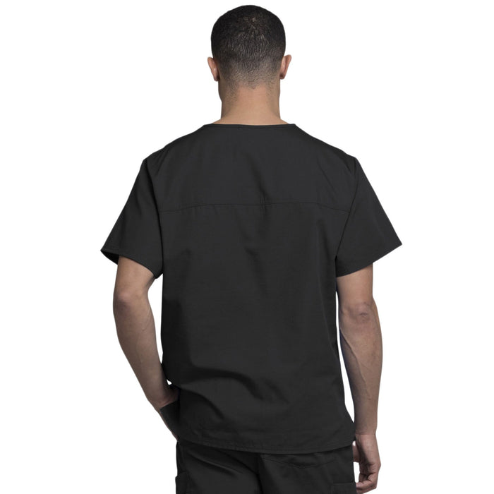 Cherokee Scrubs Top Cherokee Workwear 4789 Scrubs Top Men's V-Neck Black
