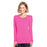 Cherokee Underscrubs 2XL Cherokee Workwear 4881 Underscrubs Women's Long Sleeve Knit Tee Shocking Pink