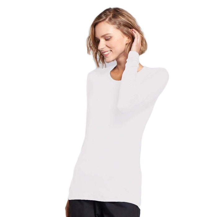 Cherokee Underscrubs Cherokee Workwear 4881 Underscrubs Women's Long Sleeve Knit Tee White