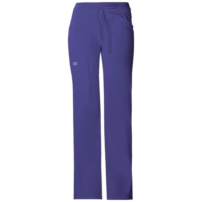 Cherokee Scrubs Pants 2XL / Regular Length Cherokee Workwear Core Stretch 24001 Scrubs Pants Women's Low Rise Drawstring Cargo Grape