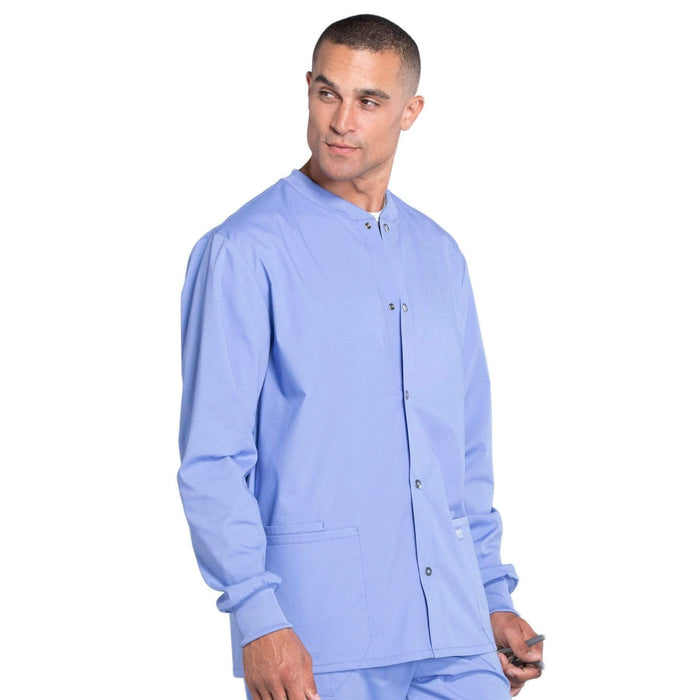 Cherokee Scrubs Jacket Cherokee Workwear Professionals WW360 Scrubs Jacket Men's Warm-up Ceil Blue