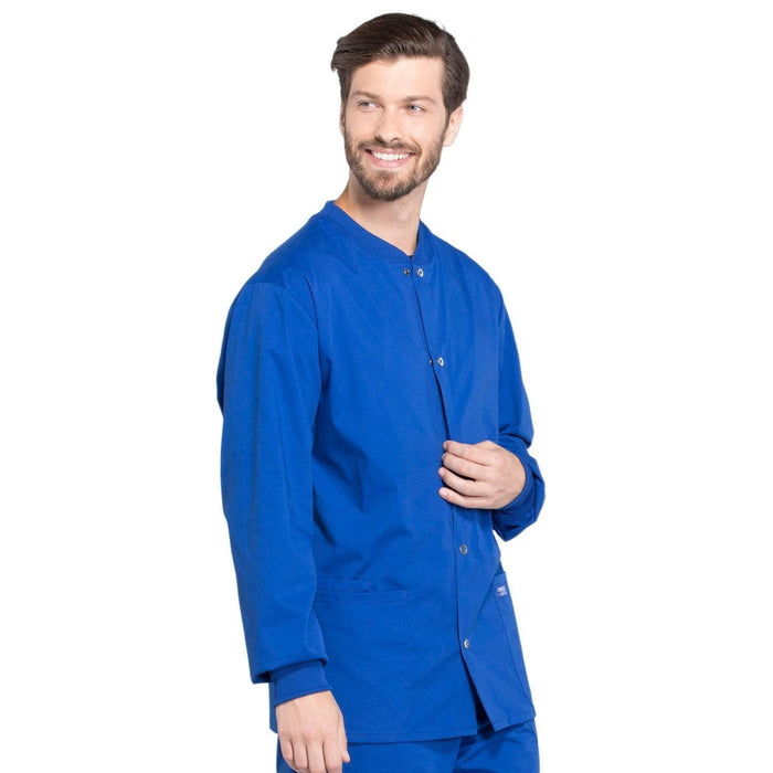 Cherokee Scrubs Jacket Cherokee Workwear Professionals WW360 Scrubs Jacket Men's Warm-up Galaxy Blue