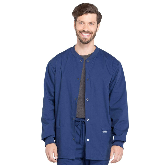 Cherokee Scrubs Jacket 2XL Cherokee Workwear Professionals WW360 Scrubs Jacket Men's Warm-up Navy