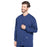 Cherokee Scrubs Jacket Cherokee Workwear Professionals WW360 Scrubs Jacket Men's Warm-up Navy