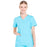 Cherokee Scrubs Top 2XL Cherokee Workwear Professionals WW665 Scrubs Top Women's V-Neck Turquoise