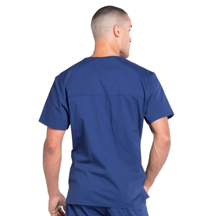Cherokee Scrubs Top Cherokee Workwear Professionals WW675 Scrubs Top Men's V-Neck Navy