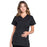 Cherokee Scrubs Top 2XL Cherokee Workwear Professionals WW685 Scrubs Top Maternity Mock Wrap Black