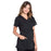 Cherokee Scrubs Top Cherokee Workwear Professionals WW685 Scrubs Top Maternity Mock Wrap Black