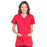 Cherokee Scrubs Top 2XL Cherokee Workwear Professionals WW685 Scrubs Top Maternity Mock Wrap Red