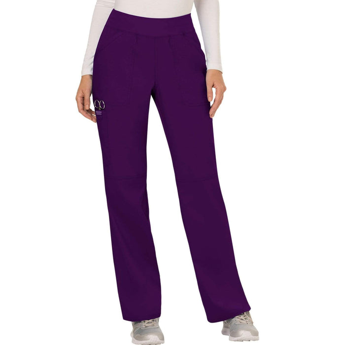 Cherokee Scrubs Pants 2XL / Regular Length Cherokee Workwear Revolution WW110 Scrubs Pants Women's Mid Rise Straight Leg Pull-on Eggplant