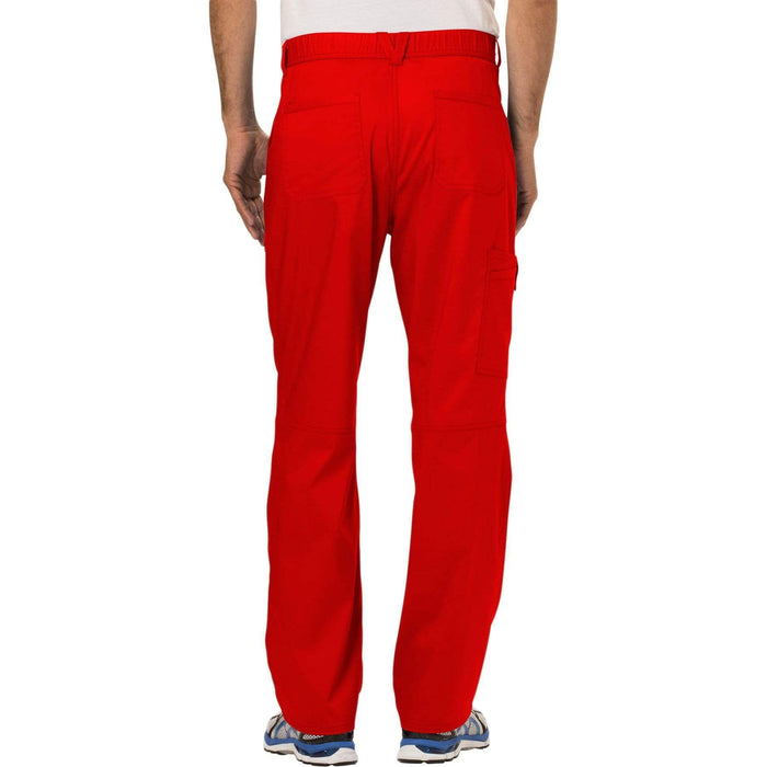 Cherokee Scrubs Pants Cherokee Workwear Revolution WW140 Scrubs Pants Men's Fly Front Red