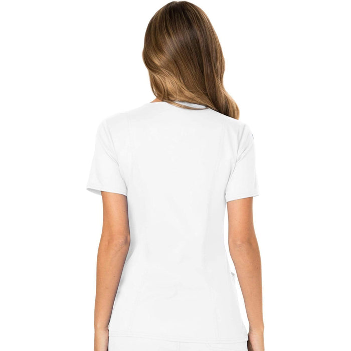 Cherokee Scrubs Top Cherokee Workwear Revolution WW610 Scrubs Top Women's Mock Wrap White
