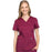 Cherokee Scrubs Top 2XL Cherokee Workwear Revolution WW610 Scrubs Top Women's Mock Wrap Wine
