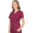 Cherokee Scrubs Top Cherokee Workwear Revolution WW610 Scrubs Top Women's Mock Wrap Wine