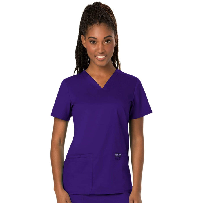 Cherokee Scrubs Top Cherokee Workwear Revolution WW620 Scrubs Top Women's V-Neck Grape