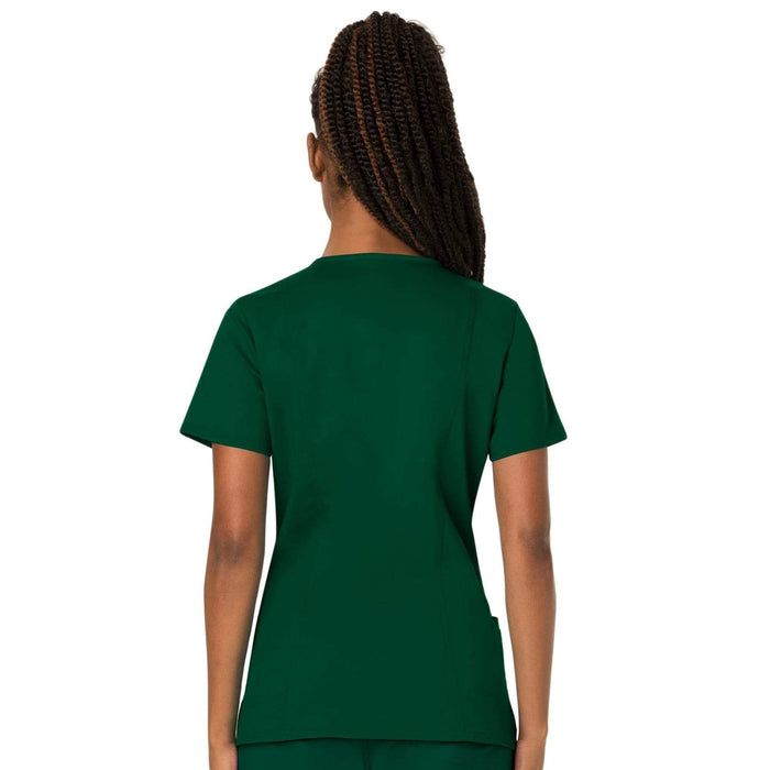 Cherokee Scrubs Top Cherokee Workwear Revolution WW620 Scrubs Top Women's V-Neck Hunter Green