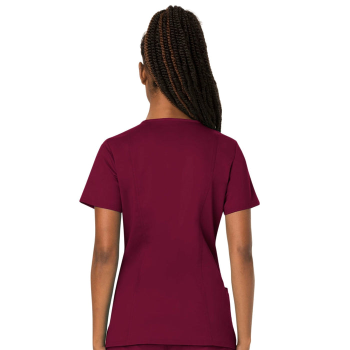 Cherokee Scrubs Top Cherokee Workwear Revolution WW620 Scrubs Top Women's V-Neck Wine