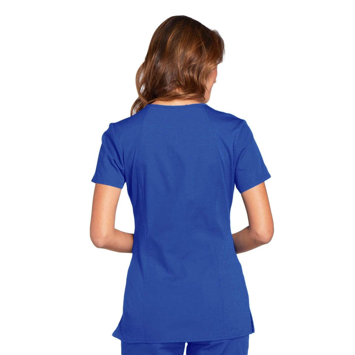 Cherokee Scrubs Top Cherokee Workwear WW645 Scrubs Top Women's V-Neck Royal