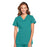 Cherokee Scrubs Top 2XL Cherokee Workwear WW645 Scrubs Top Women's V-Neck Teal Blue