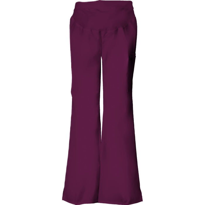 Cherokee Scrub Pants Flexibles Maternity Knit Waist Pull-On Pant Wine Pant