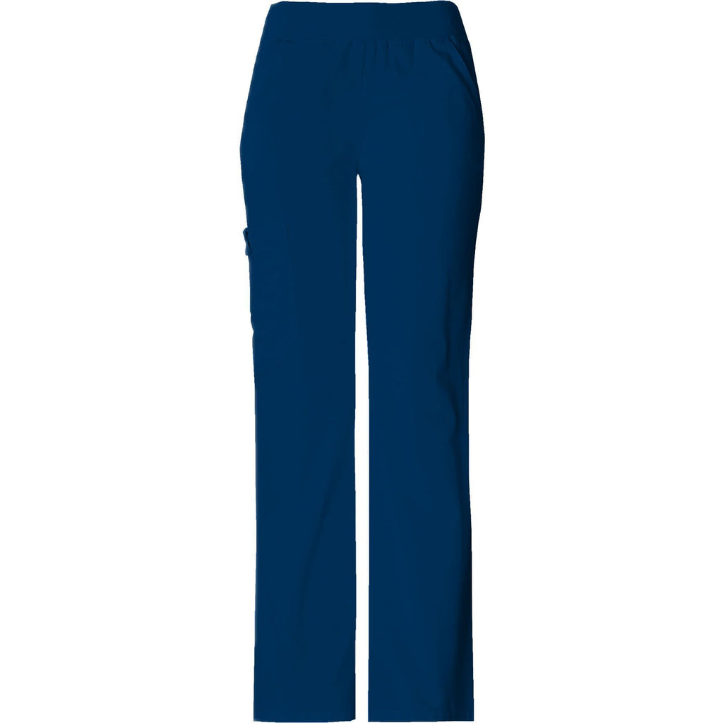 Cherokee Scrub Pants Flexibles (Tonal) Mid Rise Knit Waist Pull-On Pant Navy Pant