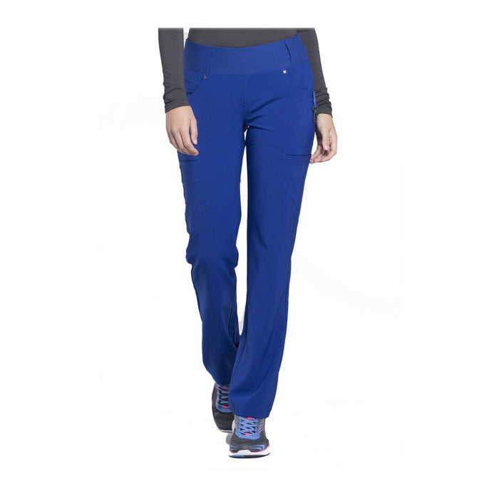 Cherokee Scrub Pants iflex Mid Rise Straight Leg Pull-on Pant Galaxy Blue Pant