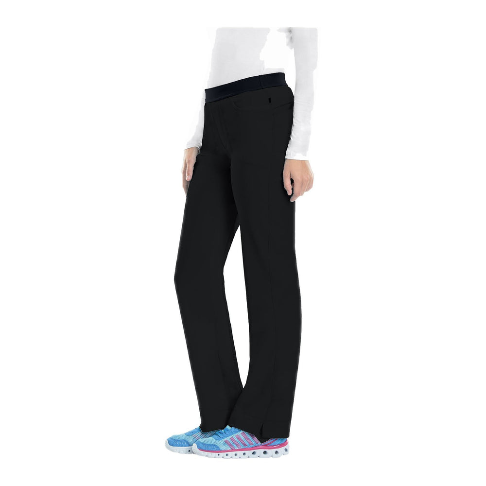 Cherokee Infinity 1124A Scrubs Pants Women's Low Rise Slim Pull-On Black
