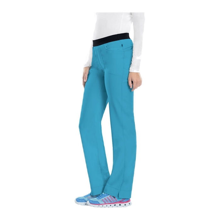 Cherokee Scrub Pants Infinity Low Rise Slim Pull-On Pant Turquoise Pant