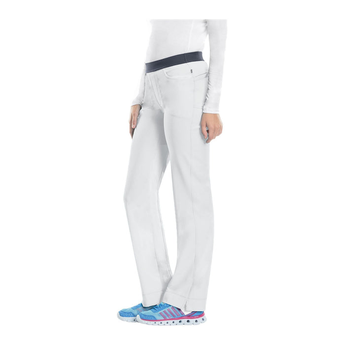 Cherokee Scrub Pants Infinity Low Rise Slim Pull-On Pant White Pant