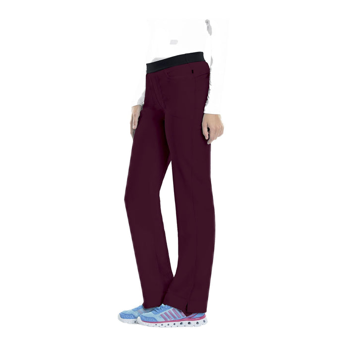 Cherokee Scrub Pants Infinity Low Rise Slim Pull-On Pant Wine Pant