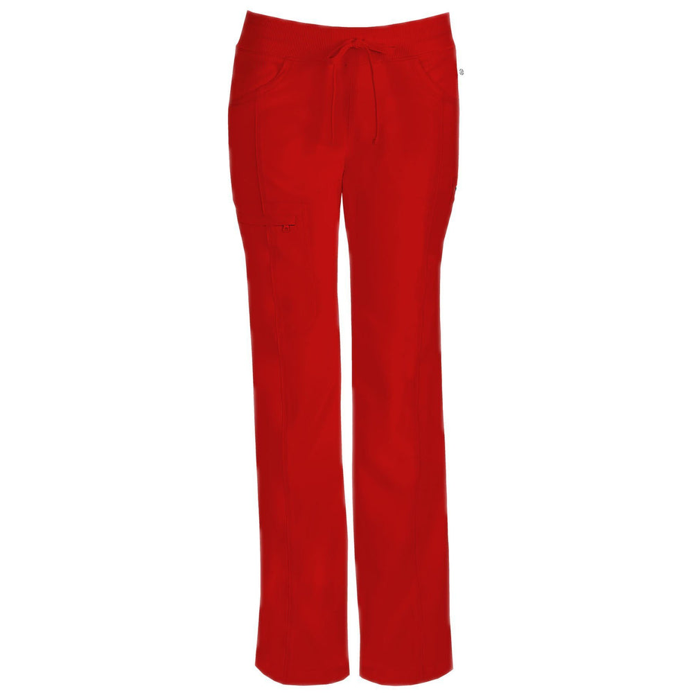 Cherokee Scrub Pants Infinity Low Rise Straight Leg Drawstring Pant Red Pant