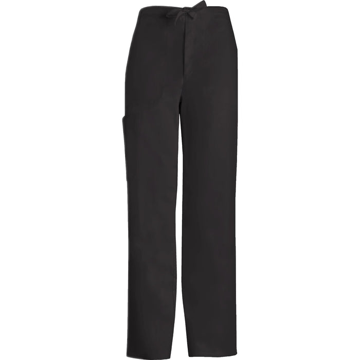 Cherokee Scrub Pants Luxe for Men Fly Front Drawstring Pant Black Pant